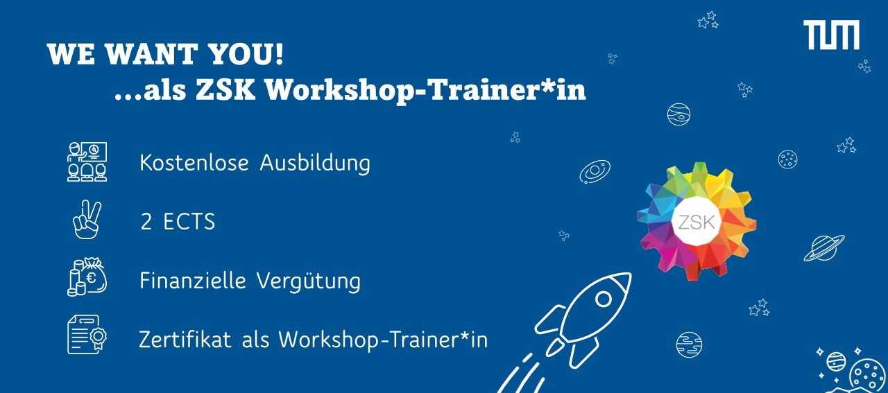 Bewirb dich als Workshop-Trainer*in und leite im Wintersemester einen Soft Skills Kurs für Erstis